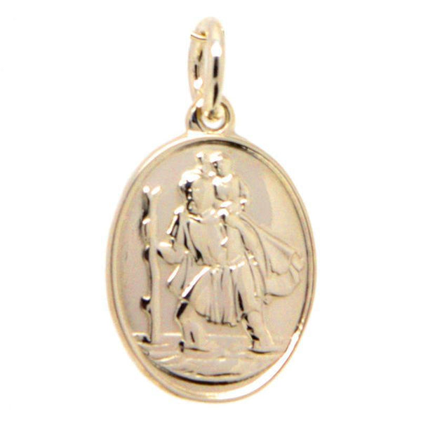 Gold St Christopher Charm - Perfectcharm