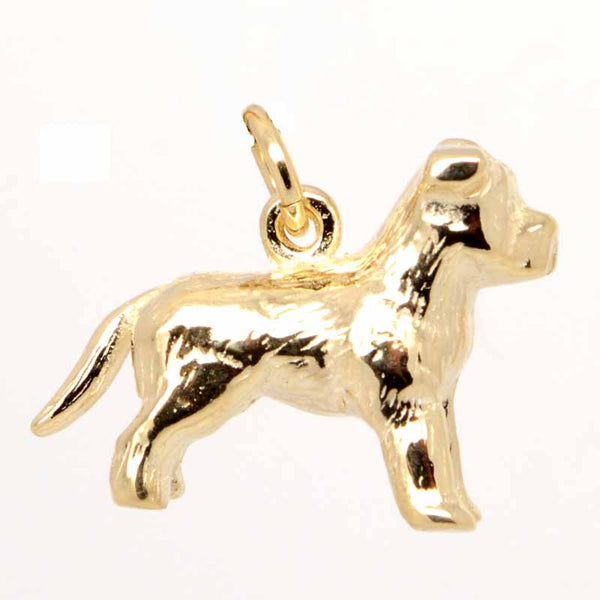 Gold Staffordshire Bull Terrier Charm - Perfectcharm - 1