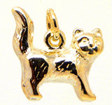 Gold Tabby Cat Charm - Perfectcharm - 1