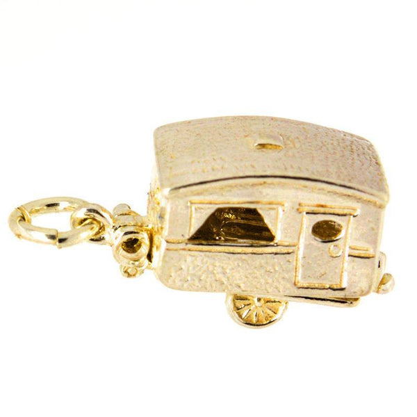 Gold Touring Caravan Charm - Perfectcharm - 1
