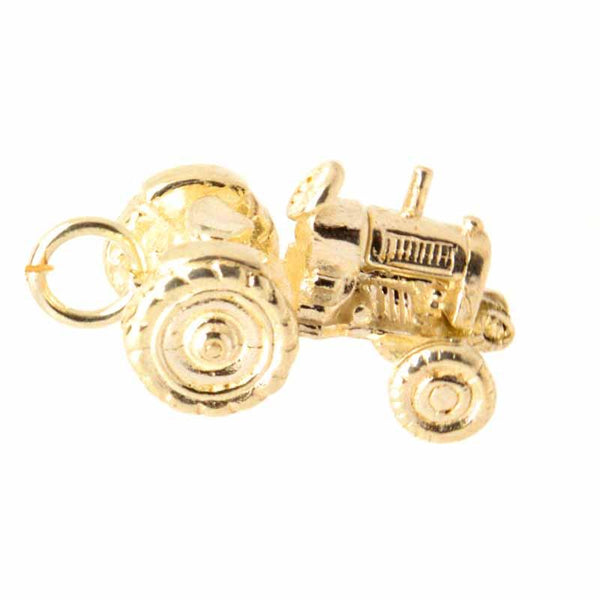 Gold Charm - Gold Tractor Charm