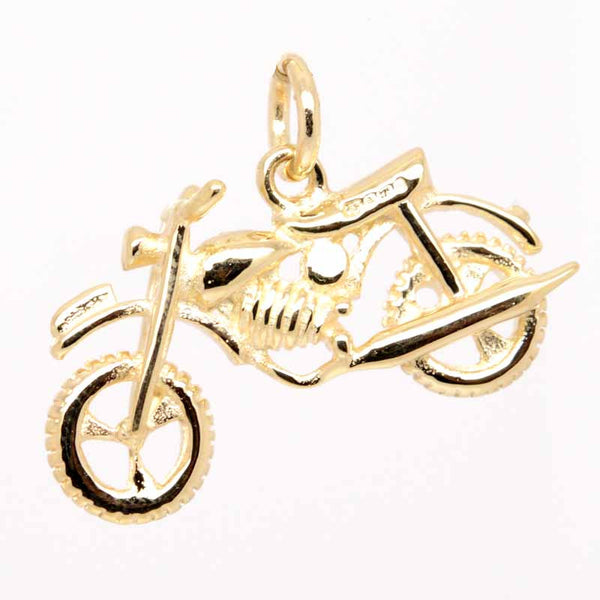 Gold Trail Motorbike Charm - Perfectcharm - 1