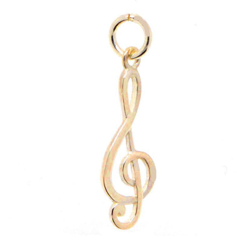 Gold Treble Clef Charm