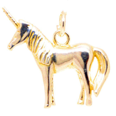 Gold Unicorn Charm Large
