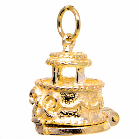 Gold Wedding Cake Charm