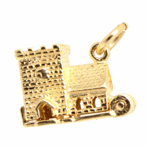 Gold Wedding Church Charm