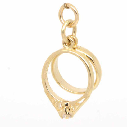 Gold Wedding Rings Charm