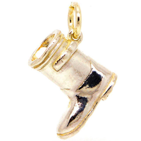 Gold Wellington Boot Charm