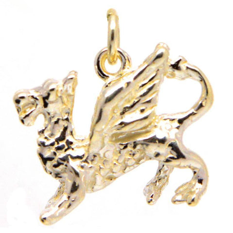 Gold Welsh Dragon Charm