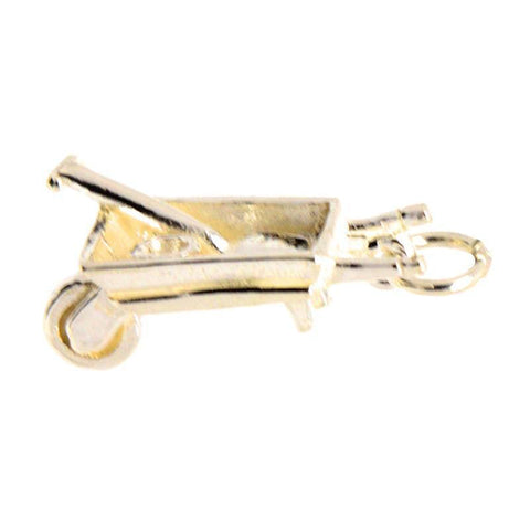 Gold Wheelbarrow Charm