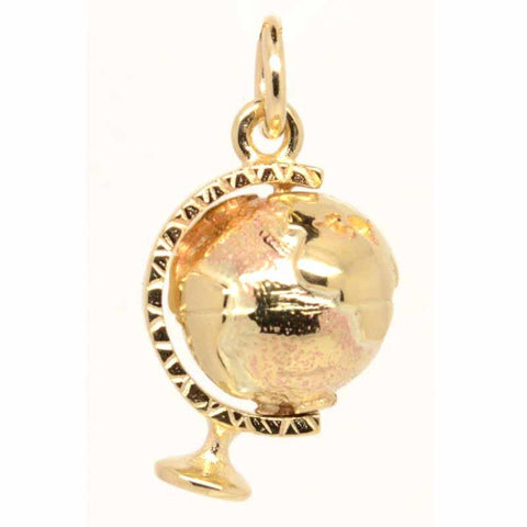 Gold World Globe Charm