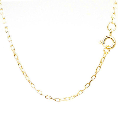 18ct Yellow Gold Fine Filed Trace Necklace