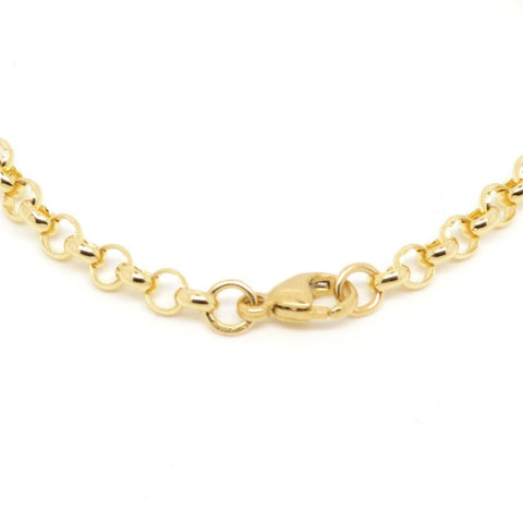 18ct Yellow Gold Round Belcher Necklace