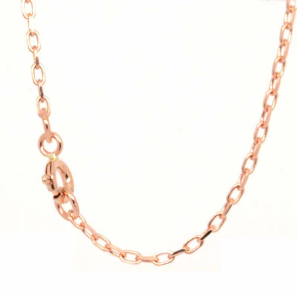 Necklace - 9ct Rose Gold Fine Filed Trace Necklace