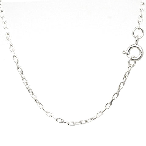 9ct White Gold Fine Filed Trace Necklace