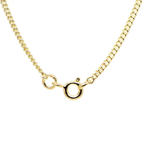 9ct Yellow Gold Fine Close Curb Necklace