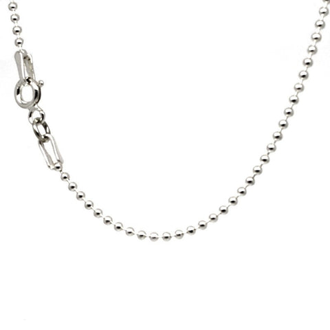 Sterling silver fine bead necklace