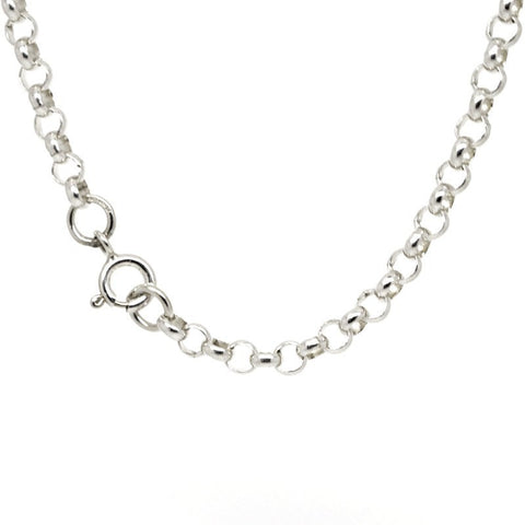 Sterling silver fine belcher necklace