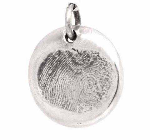 Gold Fingerprint Disc Charm