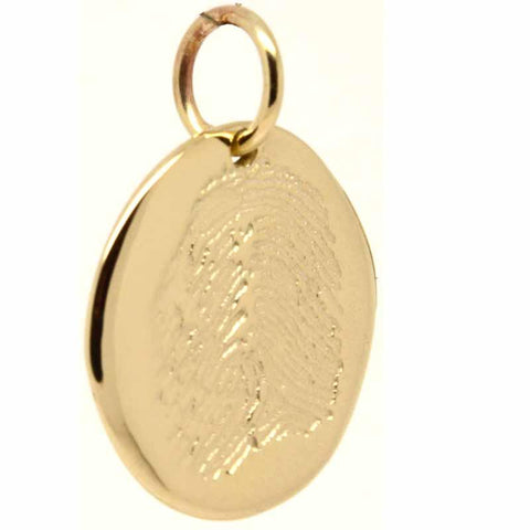Gold Fingerprint Disc Pendant from Inkprint