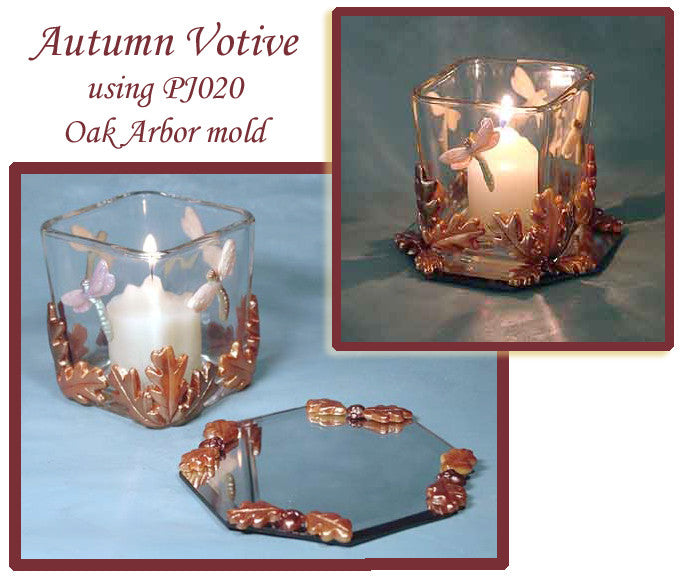 Autumn Reflections Mirrored Votive