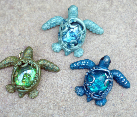 Glammed Baby Sea Turtles Tutorial using PJ048 mold
