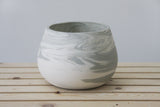 LUCY- Ceramic bowl in gray and white marbled look