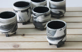 PLUS - Ceramic espresso cup marbled look