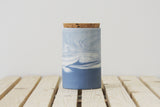MAXWELL- Ceramic jar in blue and white marbled pattern