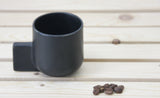 LENNY - Ceramic espresso cup in white, gray or matte black.