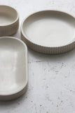 Ceramic white centerpiece set