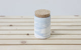 MAX- Ceramic jar in light blue and white marbled pattern