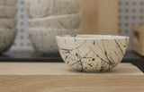 TRIO- 3 ceramic bowls in white and black lines