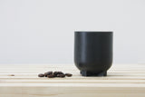 PLUS - Ceramic espresso cup in black with matte glaze