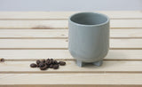 PLUS - Ceramic espresso cup in gray with clear glossy glaze