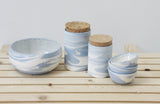 Light blue Ceramic set in marbled pattern