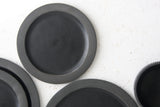 Elli dinnerware- Ceramic medium size plate in black