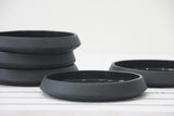Moon- Ceramic cake plate in black