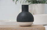 Emily vase- Ceramic black and white vase