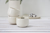 EMMA - Ceramic espresso cup in white and glossy glaze- Short