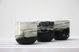 EMMA - Ceramic espresso cup in black and white marble pattern- Long