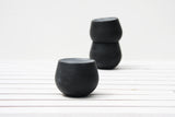 Eve - Ceramic espresso cup in black and white glossy glaze