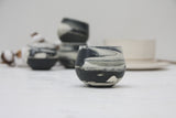 Eve - Ceramic espresso cup in black and white marble