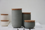 JARS- Ceramic set of 3 different jars in gray