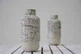 Ceramic vase- Black lines pattern