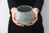 LUCY- Ceramic bowl in gray and white lines
