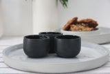 EMMA - Ceramic espresso cup in black and glossy glaze- Short