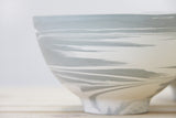 ISLA - Ceramic bowl in gray & white with marbled look