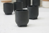 Plus- Ceramic espresso cup in black and glossy glaze