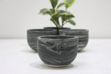 Alona- Ceramic bowl in black and white marble